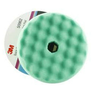 Buff Pad Green Waffle 150mm Quick Connect