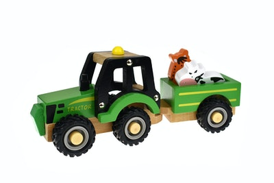Koala Dream WOODEN TRACTOR WITH ANIMAL