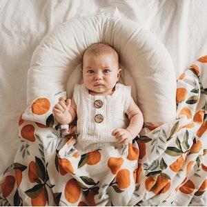 Bubba Bump Baby Clementine Bamboo Muslin Wrap