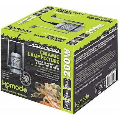 Komodo Ceramic ES Lamp Fixture & Mounting Bracket
