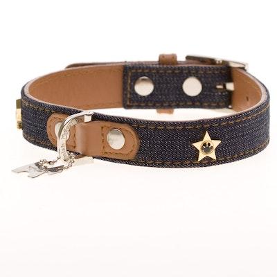 Hamish McBeth Denim Dog Collar