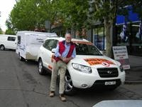 Jayco Feather follows new Hyundai diesel from Sydney to Melbourne on under 75 litres