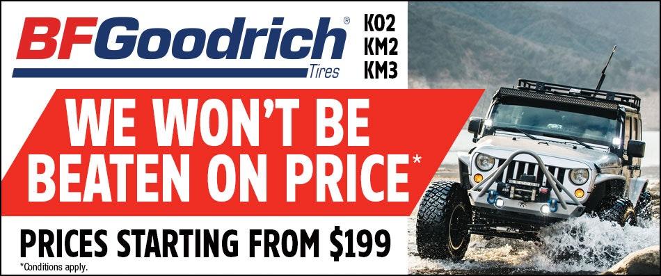BFGoodrich |Best Tyre Price Guarantee | Bob Jane T-Marts