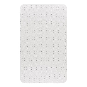 Bassinet Fitted Sheet (LARGE SIZE - 91x54x20cm - JERSEY): WHITE WITH BLACK DOTS