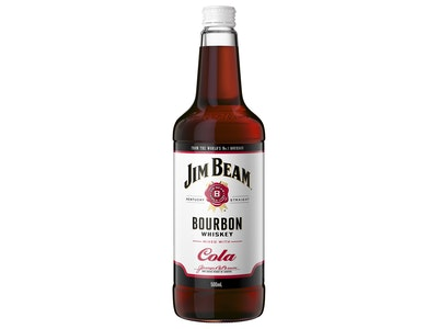 Jim Beam White Label & Cola Bottle 500mL
