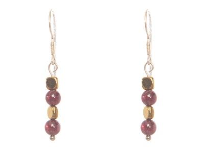 CocoKanela Granate Earrings