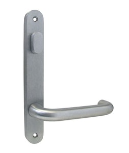 dormakaba narrow style inner round end plate with turn snib & 25 lever visible fixing in SCP finish