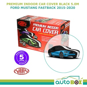 Indoor Premium SAAS Show Car Cover Suit Ford Mustang GT Fastback 2015-2020 Black