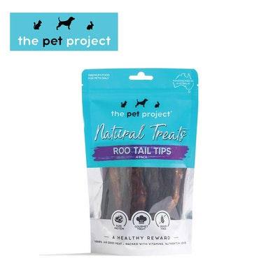 The Pet Project Natural Treats Roo Tail Tips 4 Pack