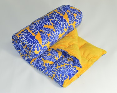 Weighted Single Bed Blanket - Bella with Saffron 5kg