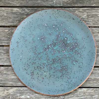 Memory Box Large Round Platter in Blue Cheese
