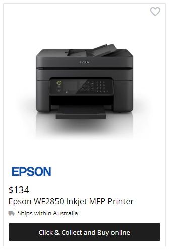 Epson WF2850 Inkjet Printer