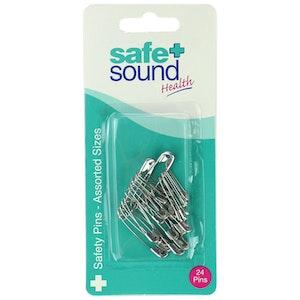 Safe + Sound Nickel Safety Pins Assorted x 24