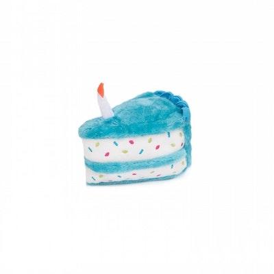Zippy Paws Birthday Cake Plush Dog Squeaker Toy - 2 Colours