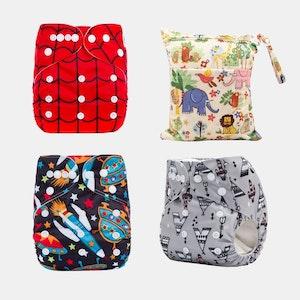 Ekoroo Reusable Cloth Nappy Bundle - SET D
