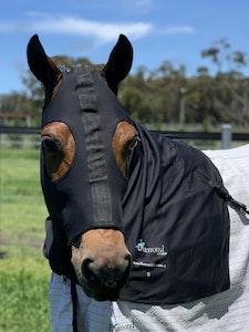 Diamond Deluxe Horsewear Deluxe Stretch Zip Hoods - Black