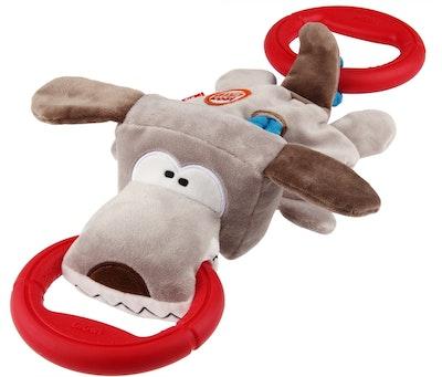 GIGWI Iron Grip Plush Tug Dog