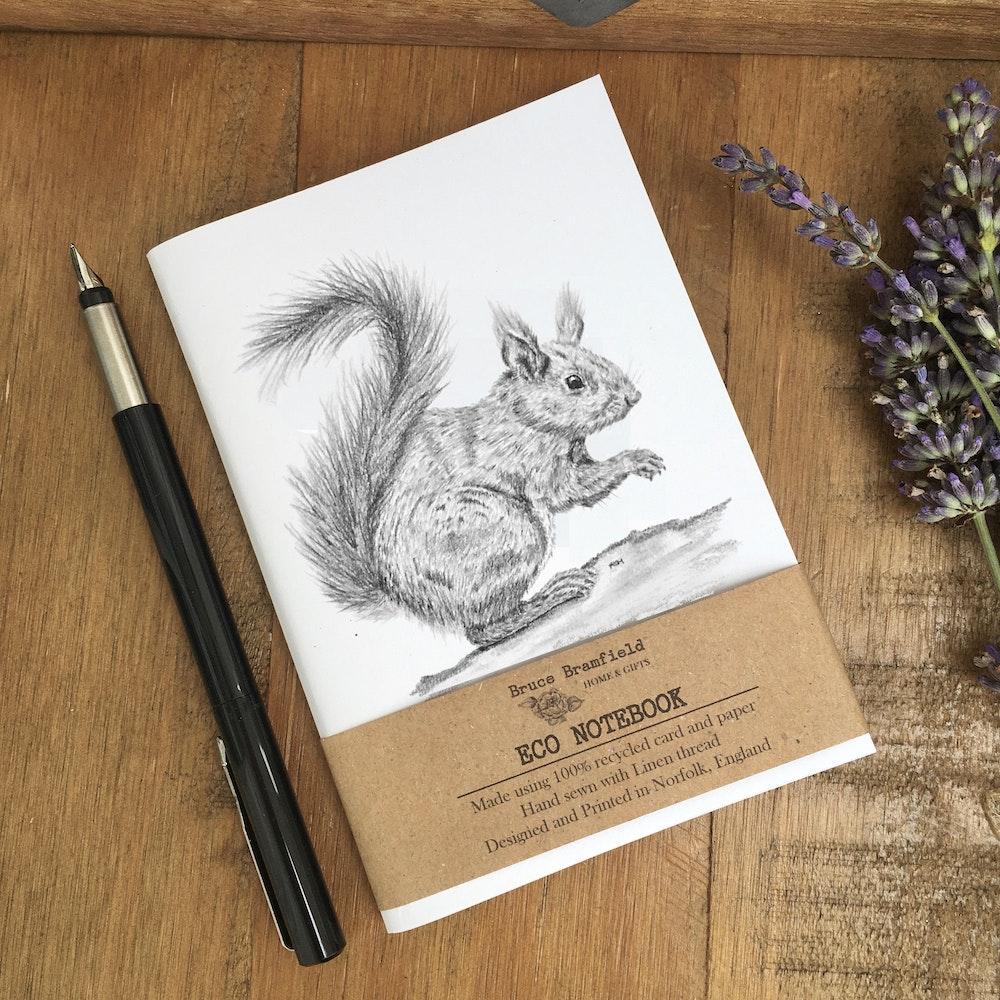Bruce Bramfield Squirrel Eco Notebook (white Cover)