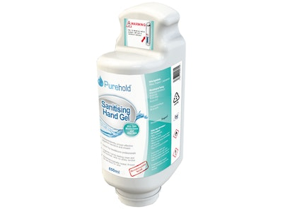 """Purehold """"Antibacterial"""" Pull handle dispensing system replacement gel bottle 850ml"""