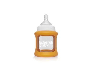 Colour Change Glass Bottles Wide Neck 150ml Single Pack - Orange