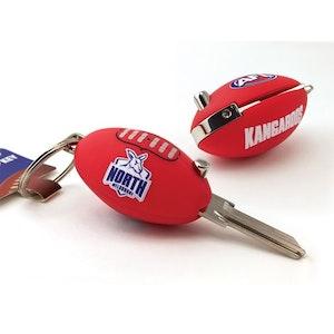 Creative Keys AFL Footy Flip Key Blank with Keyring LW4 – North Melbourne Kangaroos