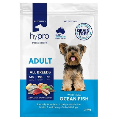 Hypro Premium Adult All Breeds Dry Dog Food Ocean Fish - 3 Sizes