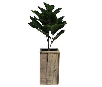 Tall wooden planter