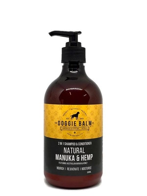 The Doggie Balm Co DoggieBalm Natural Manuka & Hemp Shampoo and Conditioner