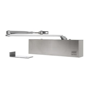 Lockwood 7714DA Series Premium Range Surface Mounted Door Closer with Hold Open Function Finished in Stainless Steel