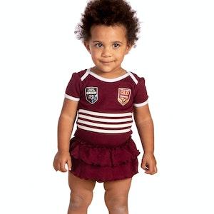 Ashtabula QLD Maroons Girls Footysuit