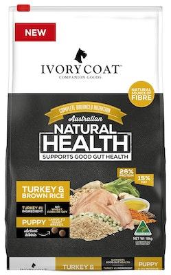 IVORY COAT Wholegrain Dry Dog Food Puppy Large Breed Turkey & Brown Rice 18kg