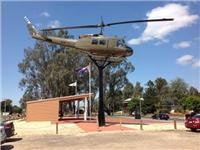 Helicopter Vietnam memorial Seymour