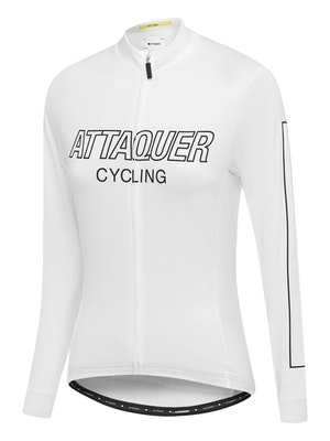 Attaquer Womens All Day Outliner Long Sleeved Jersey White
