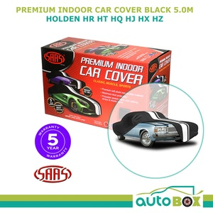 SAAS Indoor Black Softline Washable Show Car Cover for Holden HR HT HQ HJ HX HZ