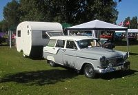 FC Holden and Dityz caravan