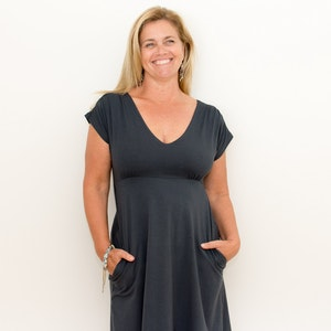 Australian Made Organic Cotton - BJ's PJ's Adele Short Sleeve Dress