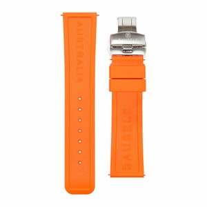 Bausele Oceanmoon IV Strap - Orange Rubber - 22mm