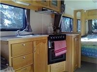 Spacious GoSee Leisure Line caravan kitchen