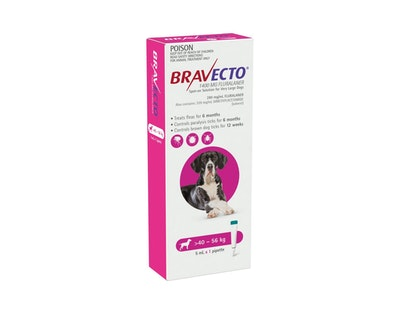 BRAVECTO Spot On for Dogs 40-56kg 1 Pack Pink