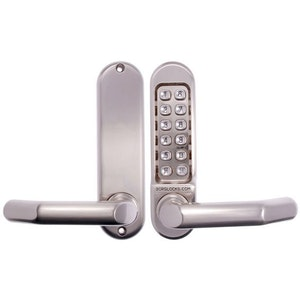 Borg Locks Push Button Mechanical Lock in Stainless Steel BL5001SS