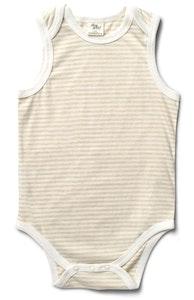 Fibre For Good Stripes Sleeveless Body Suit