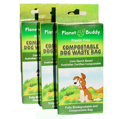 Planet Buddy Dog Waste Bags -3 boxes 180 bags