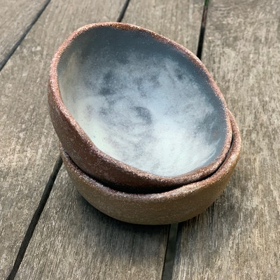 Memory Box Pinch Dip Bowl set in Fog (includes x2 bowls)