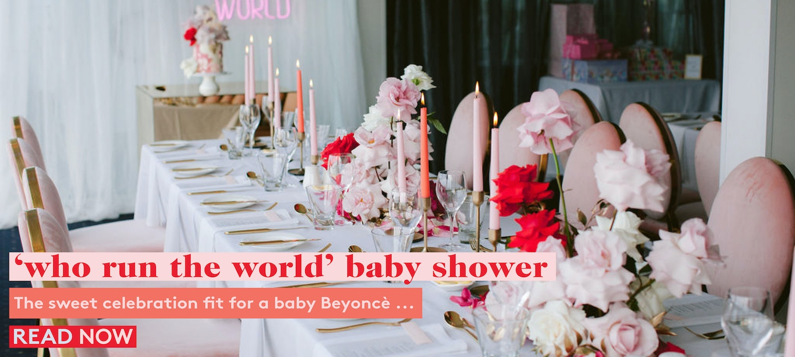 'Who Run The World' Beyoncè inspired baby shower