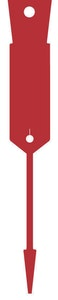Arrow Disposable Plastic Key Tags - 1000 Pack Red Supplied With FREE Marker Pen
