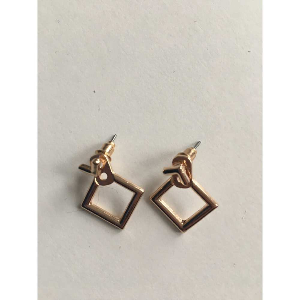 One of a Kind Club Gold Diamond Shaped Earrings