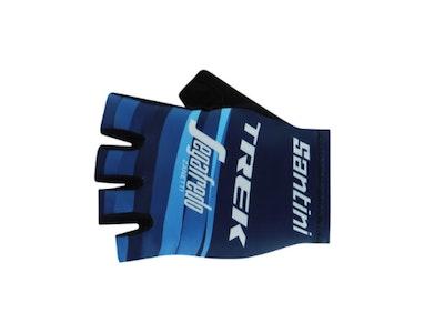 Santini Trek Segafredo Gloves Women's Blue