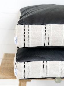 Floor Cushion Cover - Ebony and Ivory