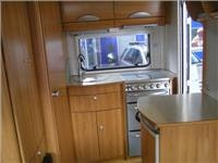 Hymer Nova. Fridge, stove and sink