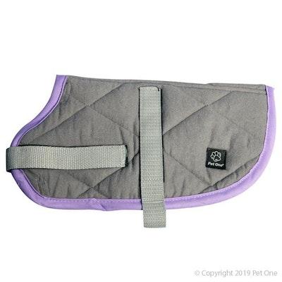 Pet One Dog Coat Night Sleeper Grey Purple